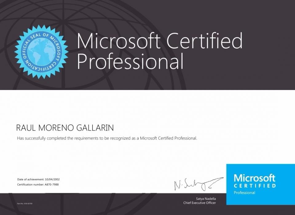 Microsoft Certified MCP
